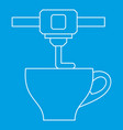 3d printer printing cup icon outline style vector image vector image