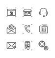 9 line icon vector image vector image