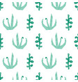 abstract green plants seamless pattern vector image