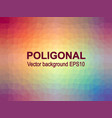 abstract poligonal background colorful vector image vector image