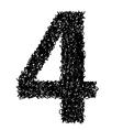 alphabet 4 vector image vector image