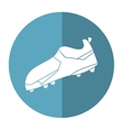 american football boot shoes spiked shadow vector image