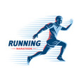 art concept a running man vector image