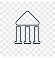 bank linear icon isolated on transparent vector image
