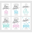 bashower invitations doodle collection vector image vector image