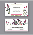 botanical wedding invitation card template design vector image vector image