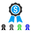 business award flat icon vector image vector image