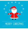 Cartoon Santa Claus and snowflakes Merry Christmas vector image vector image