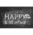 Chalk Happy Birthday blackboard background vector image vector image