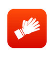 clapping applauding hands icon digital red vector image vector image