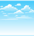 clouds in sky vector image vector image