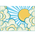 Clouds with sun vector image vector image