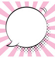 comic speech bubbles on colorful background and vector image vector image