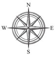 compass icon - retro design vector image