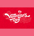 congratulations on valentine day card a nice g vector image vector image