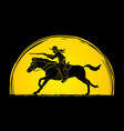cowboy on horse aiming rifle vector image vector image