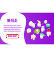 dental concept banner isometric style vector image