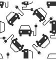Electric powered car symbol icon pattern vector image vector image