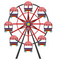 ferris wheel on white background vector image vector image