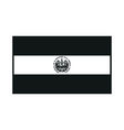 flag of el salvador monochrome on white background vector image vector image