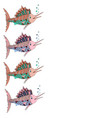 frame with place for text marlin fish vector image vector image