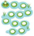 frog lilypad concept scene vector image vector image