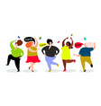 funny dancing women set vector image