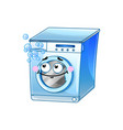 funny washing machine cartoon character vector image vector image