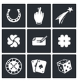 Gambling and fortune icon collection vector image