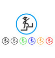 gentleman steps upstairs rounded icon vector image vector image