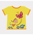 girl flying butterfly vector image vector image