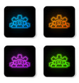 glowing neon project team base icon isolated on vector image vector image