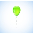 Green balloon isolated on white background vector image vector image