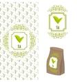Green tea logo branding concept vector image vector image