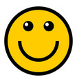 happy smiley smiling face flat style vector image vector image