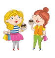 happy young girl cartoon characters vector image vector image