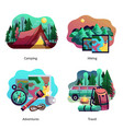hiking camping abstract concept vector image