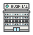 hospital building filled outline icon medicine vector image vector image