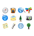 Icons for backpacking vector image