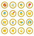 mail icon circle vector image
