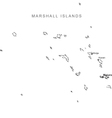 Marshall Islands Black White Map With Major Cities vector image vector image