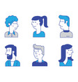 material cartoon avatars trendy characters vector image