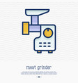meat grinder thin line icon vector image