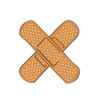 medical bandage on white background vector image