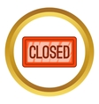 Nameplate closed icon vector image vector image