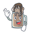 okay milkshake character cartoon style vector image vector image