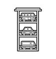 parking building car bus van vehicle comercial vector image