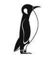 penguin icon simple style vector image