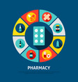 pharmacy concept icons vector image vector image