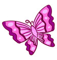 pink butterfly on white background vector image vector image